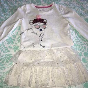 Other - ⭐️ Ivory Sparkles Tulle Skirt